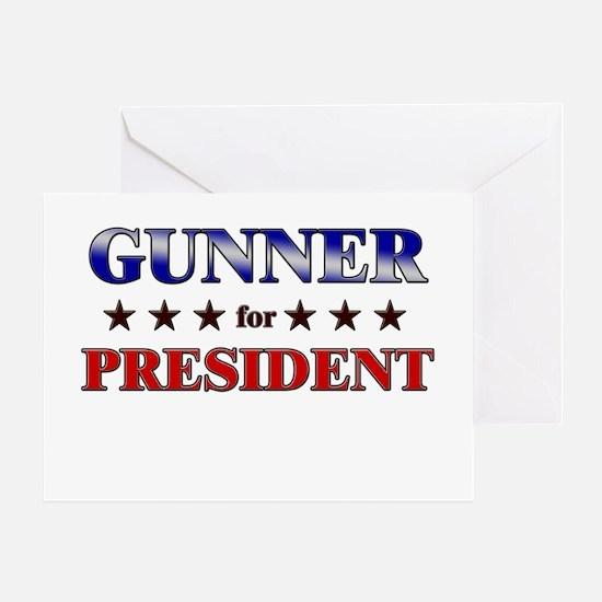 GUNNER for president Greeting Card