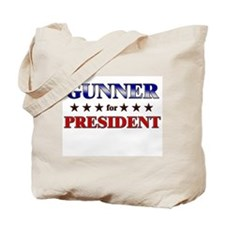 GUNNER for president Tote Bag