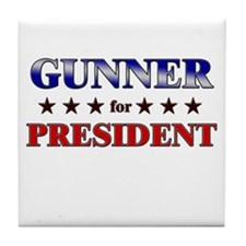 GUNNER for president Tile Coaster