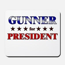 GUNNER for president Mousepad