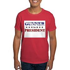 GUNNER for president T-Shirt