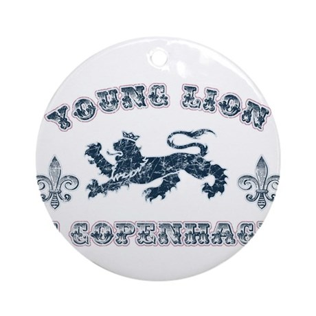 Young Lion2 Ornament (Round)
