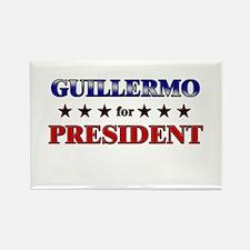 GUILLERMO for president Rectangle Magnet
