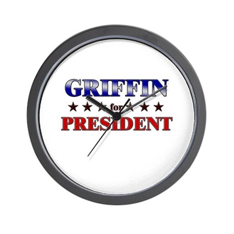 GRIFFIN for president Wall Clock