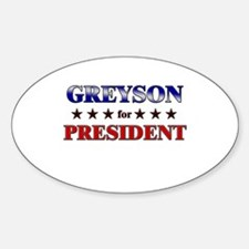 GREYSON for president Oval Decal