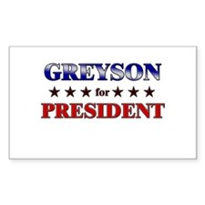 GREYSON for president Rectangle Decal