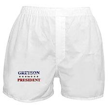 GREYSON for president Boxer Shorts