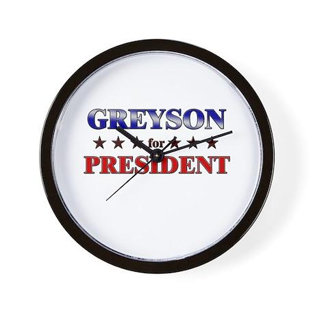 GREYSON for president Wall Clock