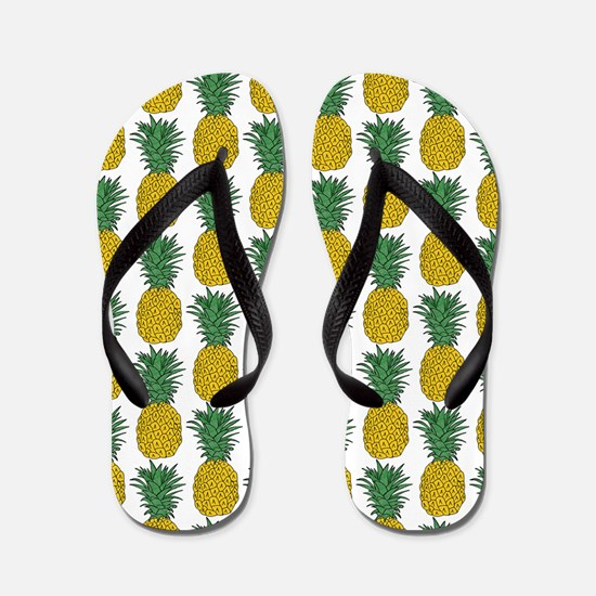 All Over Pineapple Pattern Flip Flops
