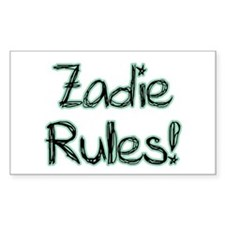 Zadie Rules! Rectangle Decal