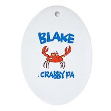 Blake - Mr. Crabby Pants Oval Ornament