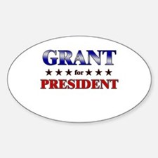 GRANT for president Oval Decal
