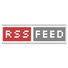 RSS Feed Web Badge Bumper Bumper Sticker
