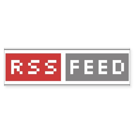 RSS Feed Web Badge Bumper Sticker