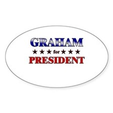 GRAHAM for president Oval Decal