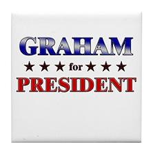 GRAHAM for president Tile Coaster