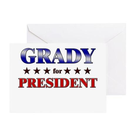 GRADY for president Greeting Card
