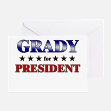 GRADY for president Greeting Card