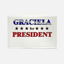 GRACIELA for president Rectangle Magnet