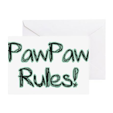 PawPaw Rules! Greeting Card