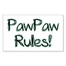 PawPaw Rules! Rectangle Decal