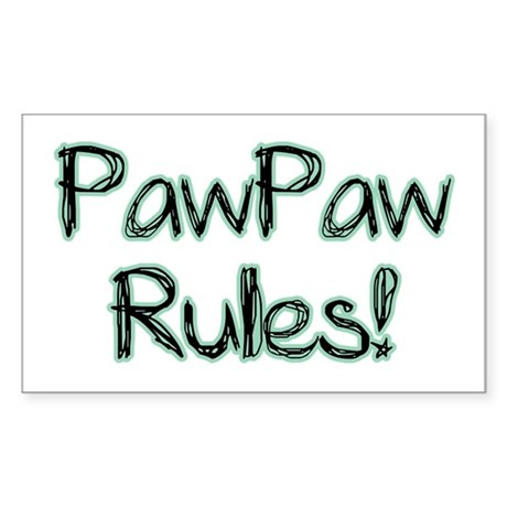 PawPaw Rules! Rectangle Sticker