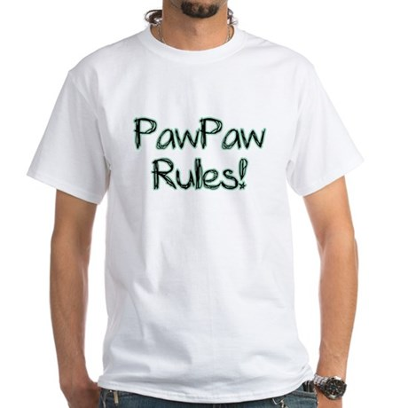 PawPaw Rules! White T-Shirt
