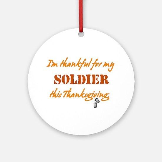 Soldier Ornament (Round)