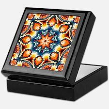 Colorful Concentric Motif Keepsake Box
