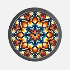 Colorful Concentric Motif Wall Clock