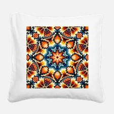 Colorful Concentric Motif Square Canvas Pillow