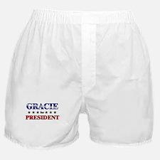 GRACIE for president Boxer Shorts