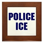 POLICE ICE Framed Tile