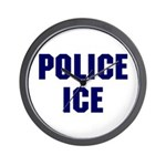 POLICE ICE Wall Clock