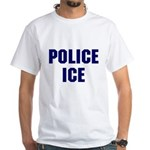 POLICE ICE White T-Shirt