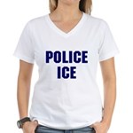 POLICE ICE Women's V-Neck T-Shirt