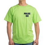 POLICE ICE Green T-Shirt