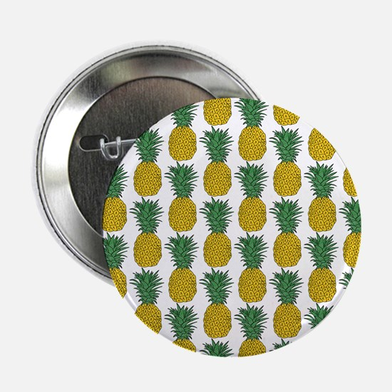 "All Over Pineapple Pattern 2.25"" Button"
