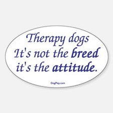 Best Therapy Breed Oval Decal