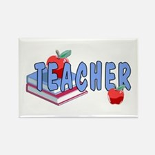 Teachers Books Rectangle Magnet