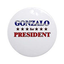 GONZALO for president Ornament (Round)
