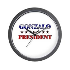 GONZALO for president Wall Clock