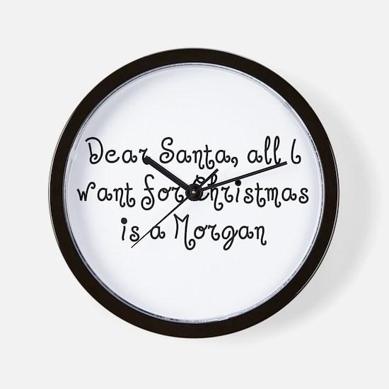 Morgan for Christmas Wall Clock