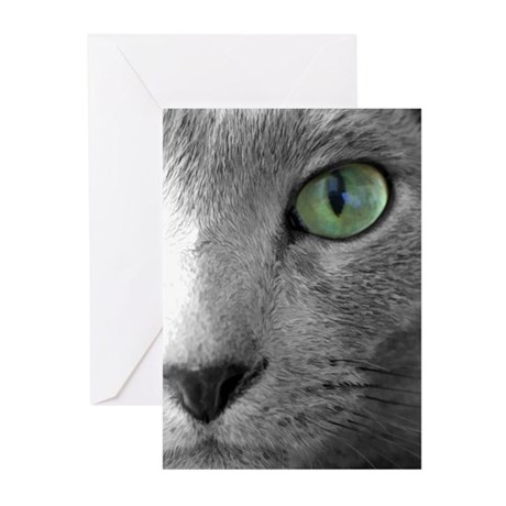 Russian Blue Greeting Cards (Pk of 10)