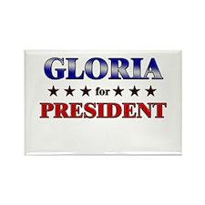 GLORIA for president Rectangle Magnet