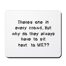 Funny Anti Social Quote Mousepad