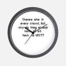 Funny Anti Social Quote Wall Clock