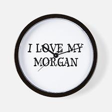 I Love My Morgan Wall Clock