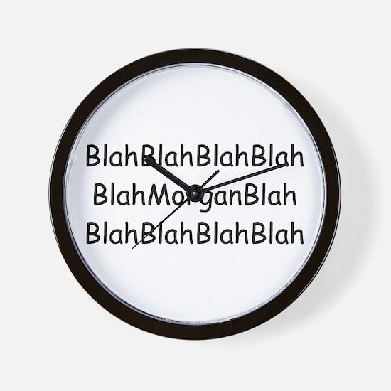 Nothing But Morgan Wall Clock