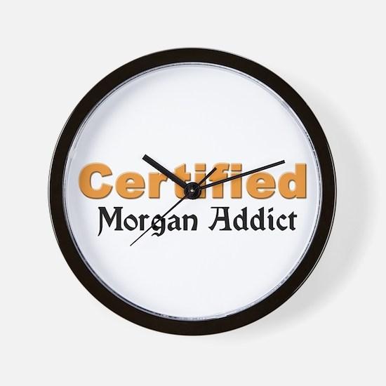 Certified Morgan Addict Wall Clock